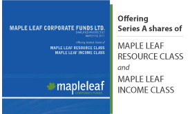 Maple Leaf Corporate Funds Ltd. Simplified Prospectus
